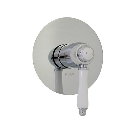 Hermitage Wall Mixer Large Plate - Parisi (Chrome/Brushed Nickel)